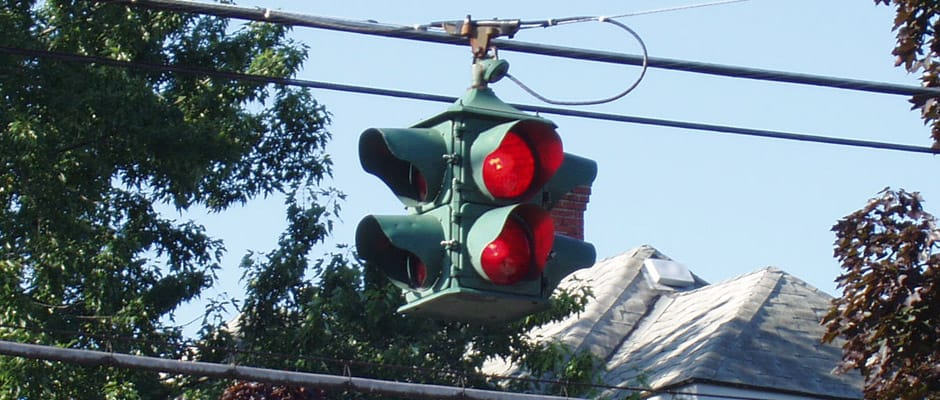 4-way flashing beacon in Depew, New York