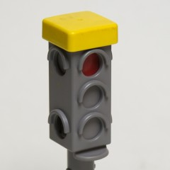 PlayMobile 1.2.3 manually-changed traffic light #60 65 1800 in grey from 6709 Police Car set - 1992-2009
