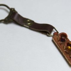 Key ring on a leather strap