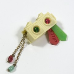 Semaphore brooch 