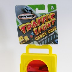 Mattel Matchbox car carrier case with three cars, 2002