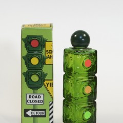 Full bottle of Avon Stop 'n Go Spicy Aftershave, circa 1974