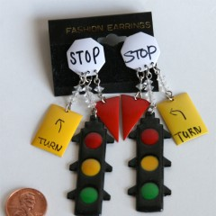 Earrings with extra signs
