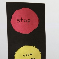 Traffic Light Cut-out made by my son in kindergarten when he was bout 5 years old.