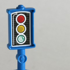 Blue Fisher Price Little People plastic signal