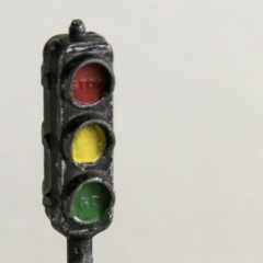 Cast iron or lead 1-sided signal