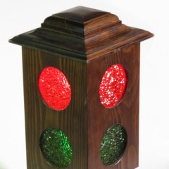 Wooden 3-way with selectable red, green, or both