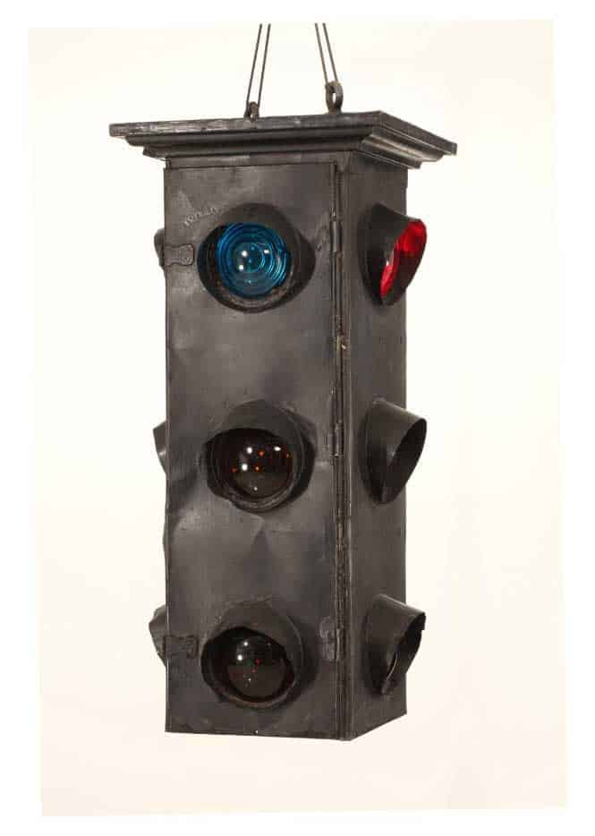 William Potts' 4-way signal from 1920, now on display at the Henry Ford Museum in Detroit, Michigan.