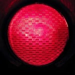 Red GE traffic signal lens