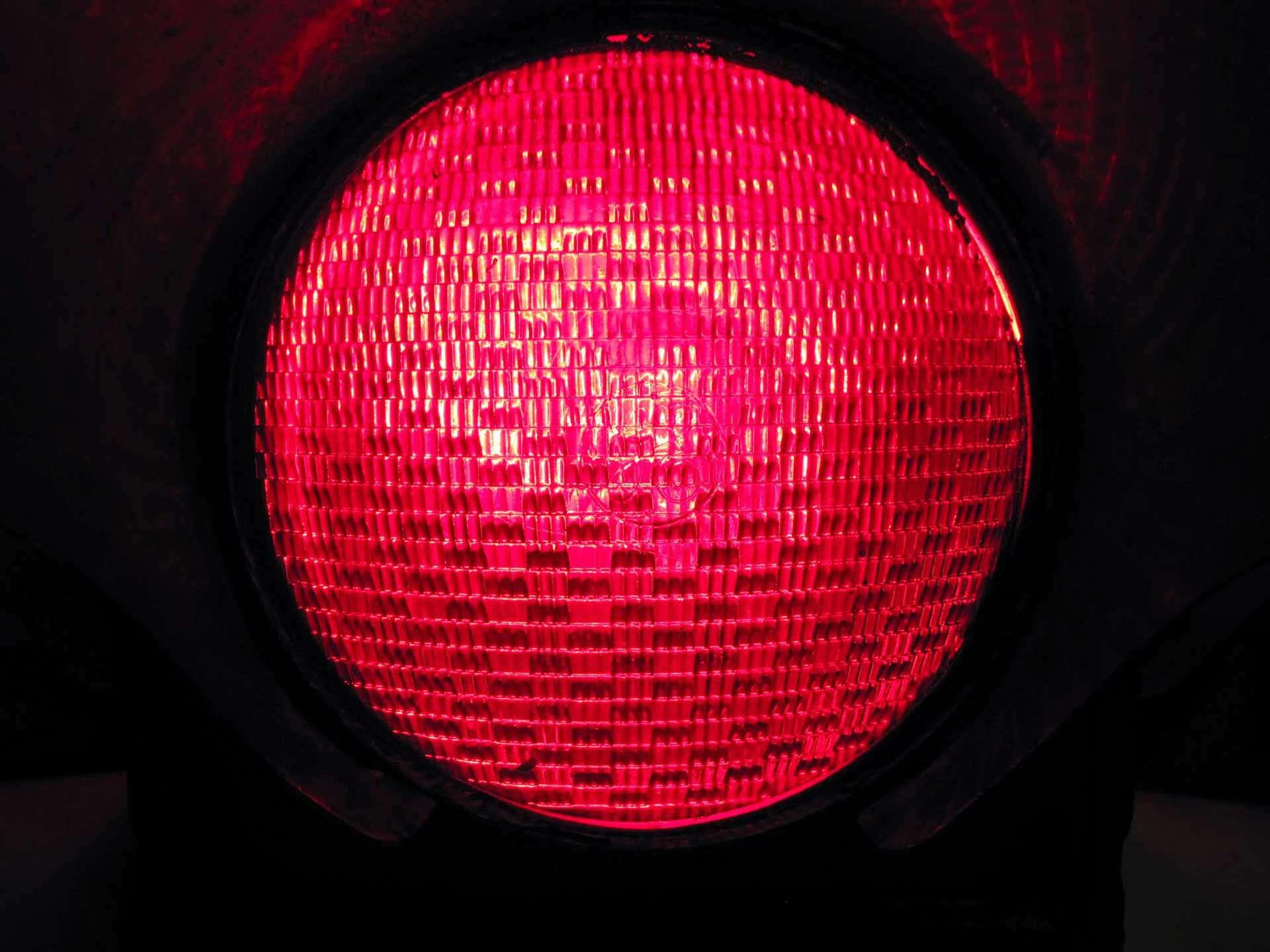 Red GE traffic signal lens