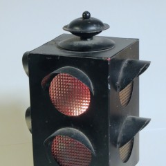 Fred Roberts black metal 4-way candle holder