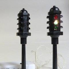 Lemax all-black 4-way traffic lights