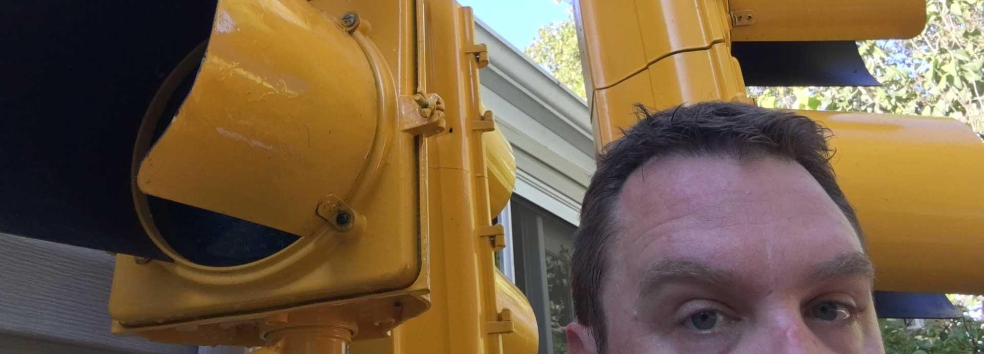 traffic light cluster behind me