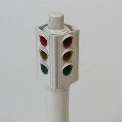 White 4-way signal from Keystone Traffic Outfit playset, 1949-1950