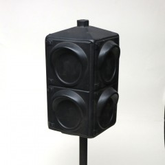 Plastic blow-mold traffic light
