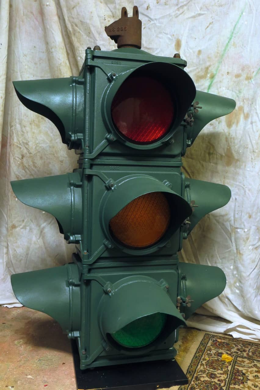 Real traffic lights in my collection make great conversation pieces for Real Traffic Lights  535wja