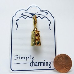 Simply Charming gold tone traffic light charm by Gigi Accessories, 1996
