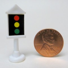 White Micro Machine plastic traffic signal