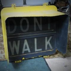 Marbelite LPS-20 worded pedestrian signal