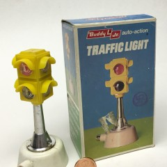 Buddy L push button 2-section traffic light