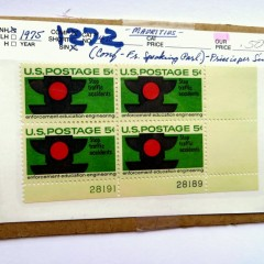 """1975 5c United States postage stamps """"Stop traffic accidents"""" """"enforcement-education-engineering"""""""