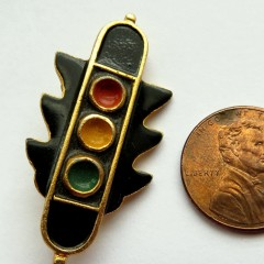 Lithuanian traffic light pin