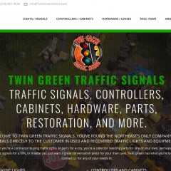 Twin Green Traffic Signals, Reseller of used traffic signals, parts, and equipment