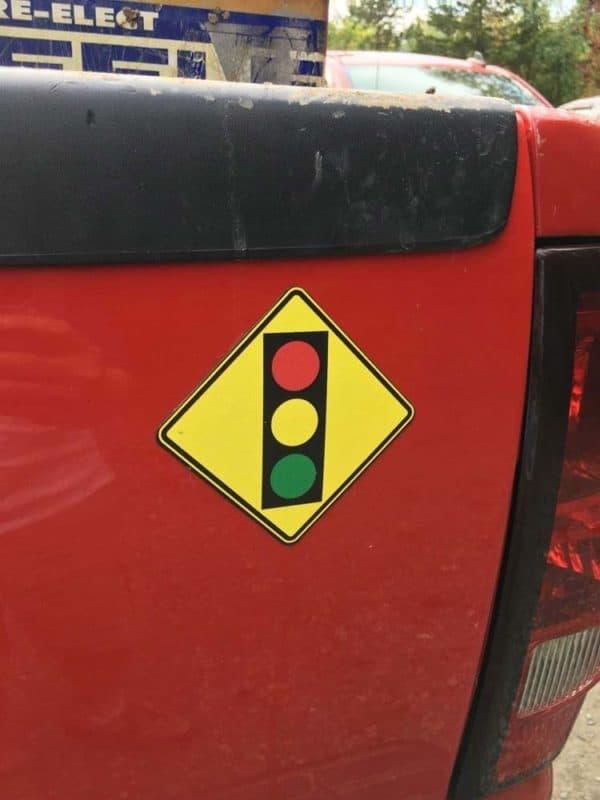 traffic signal ahead magnet